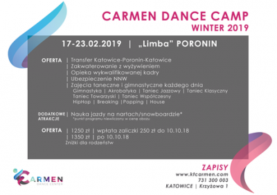 Carmen Dance Camp Winter 2019