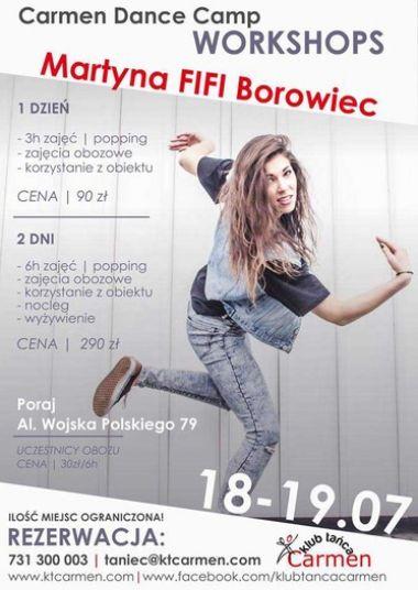 CARMEN DANCE CAMP WORKSHOPS MARTYNA FIFI BOROWIEC